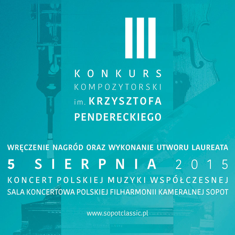 "LEAFLET ""Krzysztof Penderecki's Third Composer Competition"""