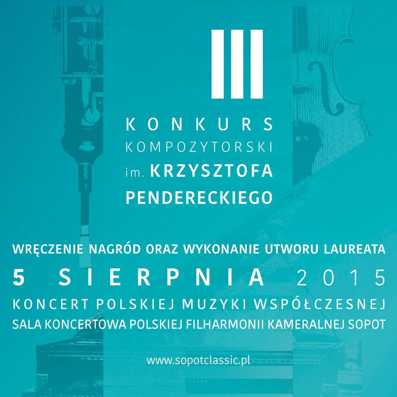 "LEAFLET ""Krzysztof Penderecki's Third Composer Competition"""